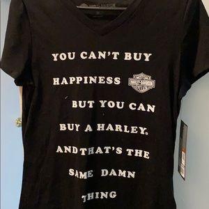 Harley Davidson v neck tee shirt